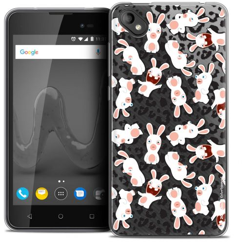"""Coque Gel Wiko Sunny 2 PLUS (5"""") Extra Fine Lapins Crétins™ - Leopard Pattern"""