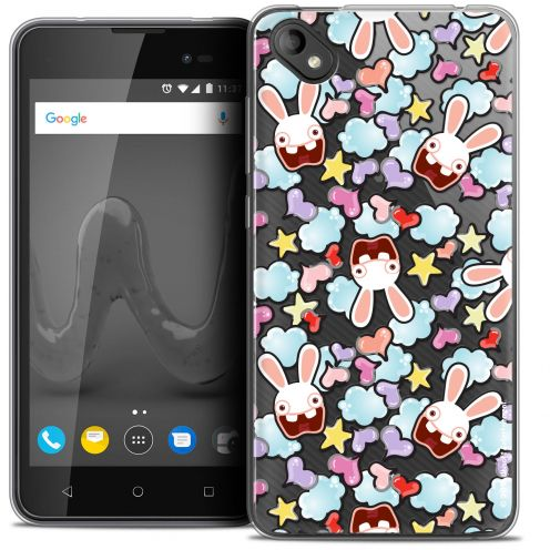"""Coque Gel Wiko Sunny 2 PLUS (5"""") Extra Fine Lapins Crétins™ - Love Pattern"""