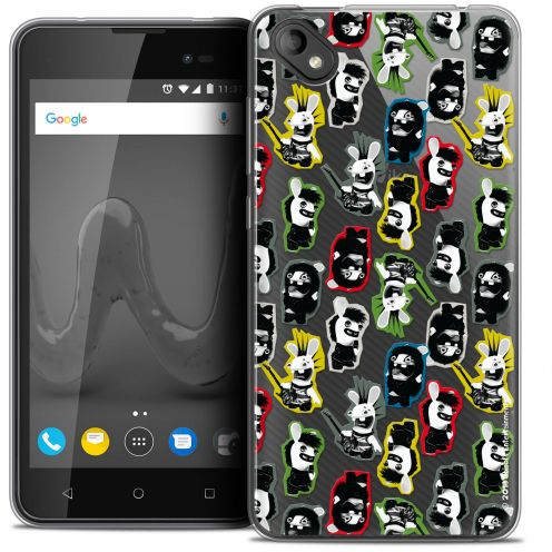 """Coque Gel Wiko Sunny 2 PLUS (5"""") Extra Fine Lapins Crétins™ - Punk Pattern"""