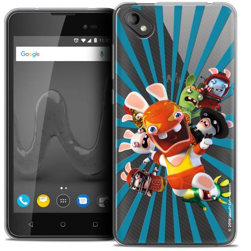 """Coque Gel Wiko Sunny 2 PLUS (5"""") Extra Fine Lapins Crétins™ - Super Heros"""