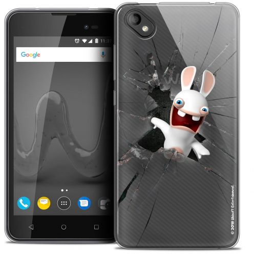 """Coque Gel Wiko Sunny 2 PLUS (5"""") Extra Fine Lapins Crétins™ - Breaking Glass"""