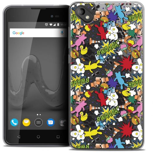 """Coque Gel Wiko Sunny 2 PLUS (5"""") Extra Fine Lapins Crétins™ - Bwaaah Pattern"""
