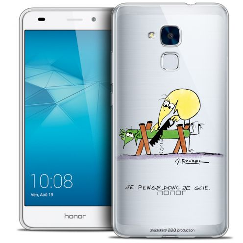Coque Gel Huawei Honor 5C Extra Fine Les Shadoks® - Je pense Donc