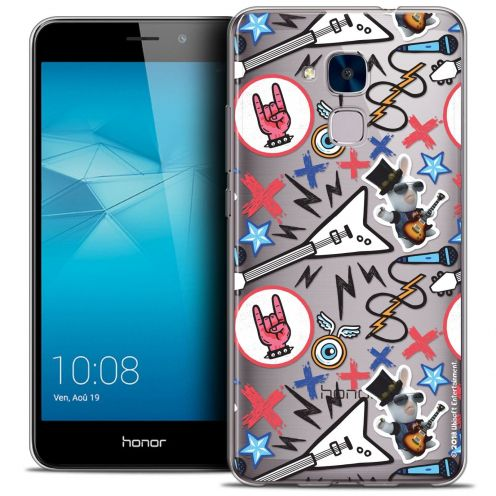 Coque Gel Huawei Honor 5C Extra Fine Lapins Crétins™ - Rock Pattern