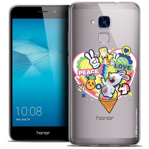 Coque Gel Huawei Honor 5C Extra Fine Lapins Crétins™ - Peace And Love
