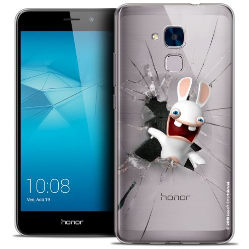 Coque Gel Huawei Honor 5C Extra Fine Lapins Crétins™ - Breaking Glass