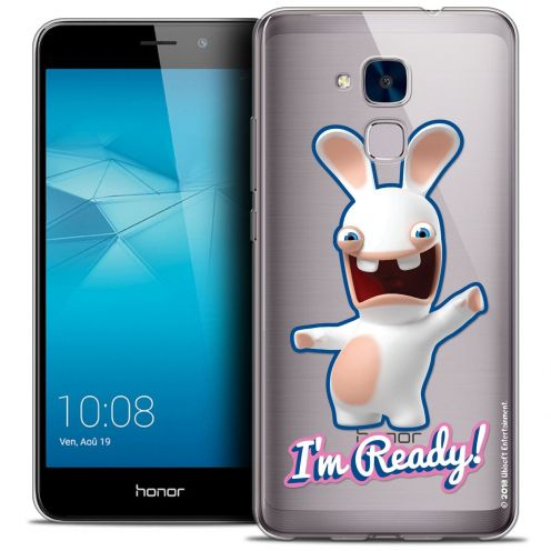 Coque Gel Huawei Honor 5C Extra Fine Lapins Crétins™ - I'm Ready !
