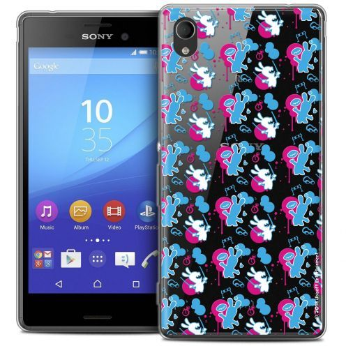 Coque Sony Xperia M4 Aqua Extra Fine Lapins Crétins™ - Rugby Pattern