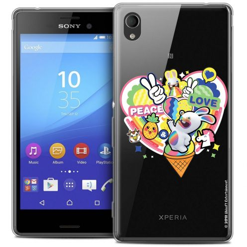 Coque Sony Xperia M4 Aqua Extra Fine Lapins Crétins™ - Peace And Love