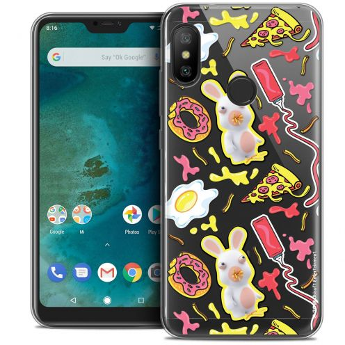 "Coque Gel Xiaomi Mi A2 LITE (5.8"") Extra Fine Lapins Crétins™ - Egg Pattern"