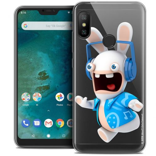 "Coque Gel Xiaomi Mi A2 LITE (5.8"") Extra Fine Lapins Crétins™ - Techno Lapin"