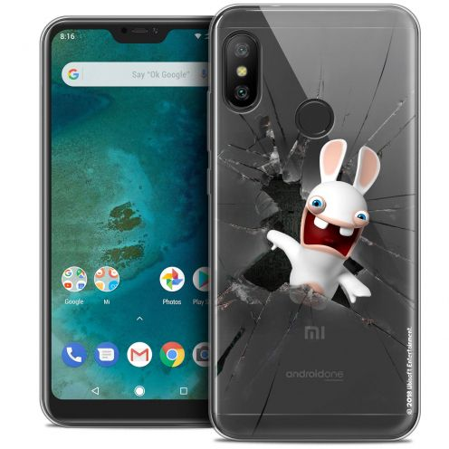 "Coque Gel Xiaomi Mi A2 LITE (5.8"") Extra Fine Lapins Crétins™ - Breaking Glass"