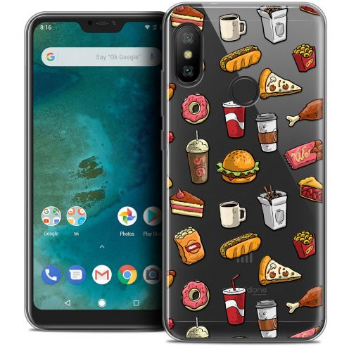 "Coque Crystal Gel Xiaomi Mi A2 LITE (5.8"") Extra Fine Foodie - Fast Food"
