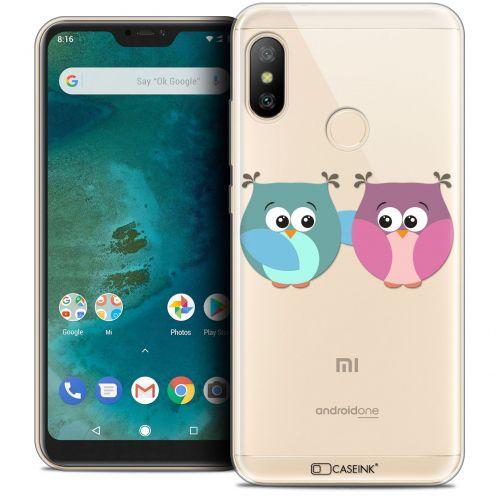 "Coque Crystal Gel Xiaomi Mi A2 LITE (5.8"") Extra Fine Love - Hibous à deux"