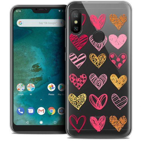 "Coque Crystal Gel Xiaomi Mi A2 LITE (5.8"") Extra Fine Sweetie - Doodling Hearts"