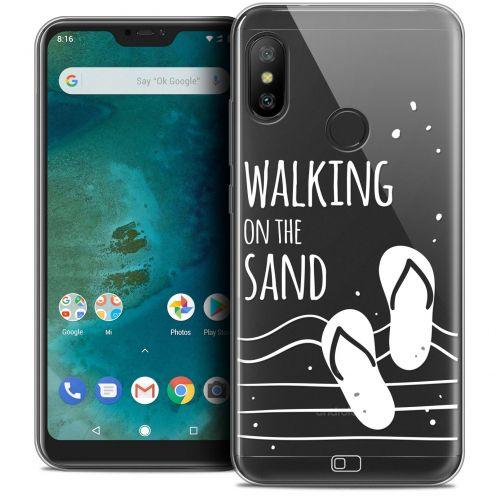 "Coque Crystal Gel Xiaomi Mi A2 LITE (5.8"") Extra Fine Summer - Walking on the Sand"