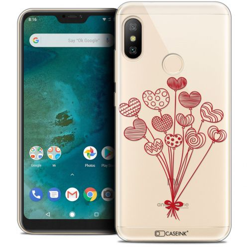 "Coque Crystal Gel Xiaomi Mi A2 LITE (5.8"") Extra Fine Love - Ballons d'amour"
