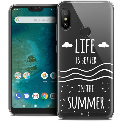 "Coque Crystal Gel Xiaomi Mi A2 LITE (5.8"") Extra Fine Summer - Life's Better"