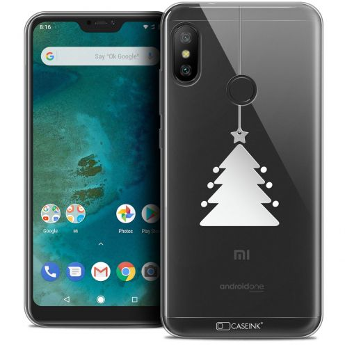"Coque Crystal Gel Xiaomi Mi A2 LITE (5.8"") Extra Fine Noël 2017 - Petit Arbre"