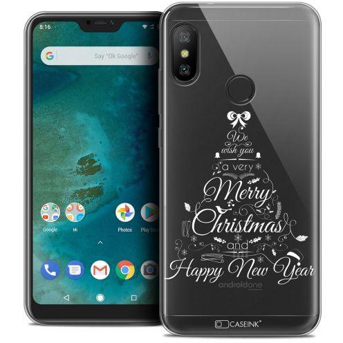 "Coque Crystal Gel Xiaomi Mi A2 LITE (5.8"") Extra Fine Noël 2017 - Calligraphie"