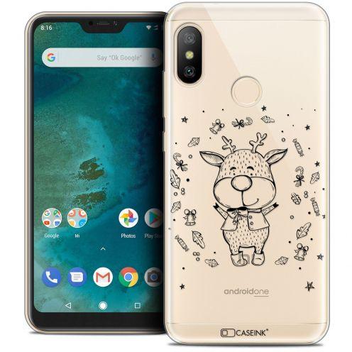 "Coque Crystal Gel Xiaomi Mi A2 LITE (5.8"") Extra Fine Noël 2017 - Sketchy Cerf"
