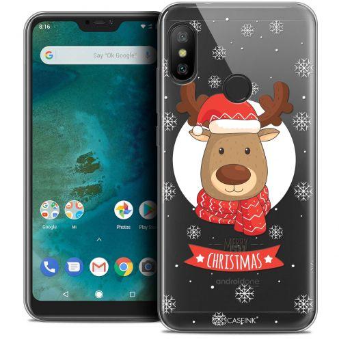 """Coque Crystal Gel Xiaomi Mi A2 LITE (5.8"""") Extra Fine Noël 2017 - Cerf à Echarpe"""