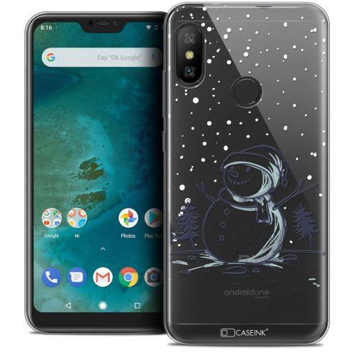 "Coque Crystal Gel Xiaomi Mi A2 LITE (5.8"") Extra Fine Noël 2017 - Bonhomme de Neige"