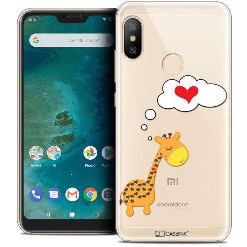 "Coque Crystal Gel Xiaomi Mi A2 LITE (5.8"") Extra Fine Love - Girafe Amoureuse"