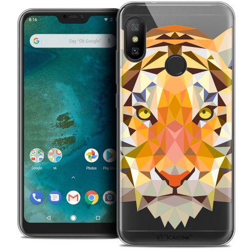 """Coque Crystal Gel Xiaomi Mi A2 LITE (5.8"""") Extra Fine Polygon Animals - Tigre"""