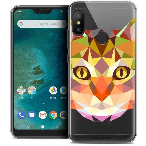 "Coque Crystal Gel Xiaomi Mi A2 LITE (5.8"") Extra Fine Polygon Animals - Chat"