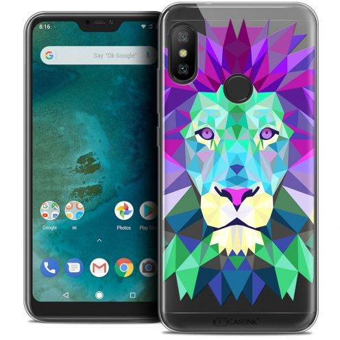"Coque Crystal Gel Xiaomi Mi A2 LITE (5.8"") Extra Fine Polygon Animals - Lion"
