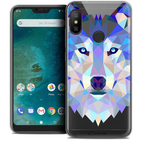 "Coque Crystal Gel Xiaomi Mi A2 LITE (5.8"") Extra Fine Polygon Animals - Loup"