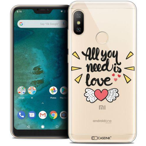 "Coque Crystal Gel Xiaomi Mi A2 LITE (5.8"") Extra Fine Love - All U Need Is"