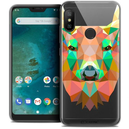 "Coque Crystal Gel Xiaomi Mi A2 LITE (5.8"") Extra Fine Polygon Animals - Cerf"