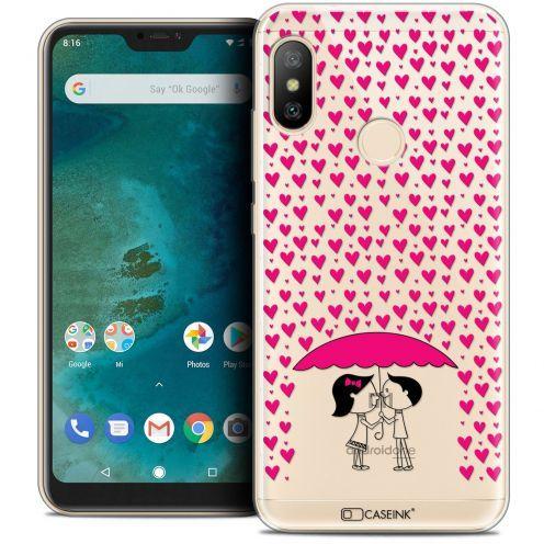 "Coque Crystal Gel Xiaomi Mi A2 LITE (5.8"") Extra Fine Love - Pluie d'Amour"