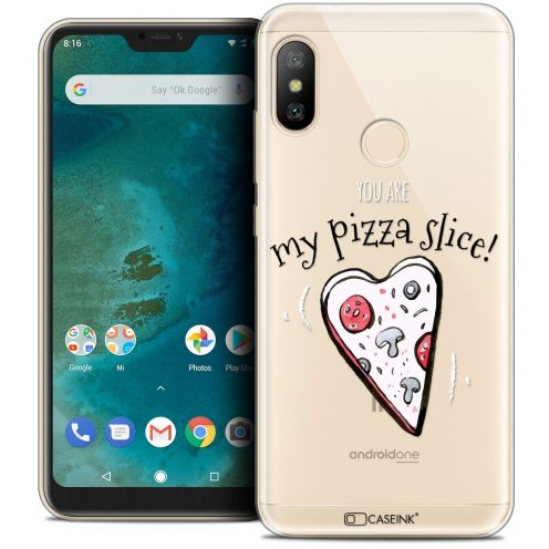 "Coque Crystal Gel Xiaomi Mi A2 LITE (5.8"") Extra Fine Love - My Pizza Slice"