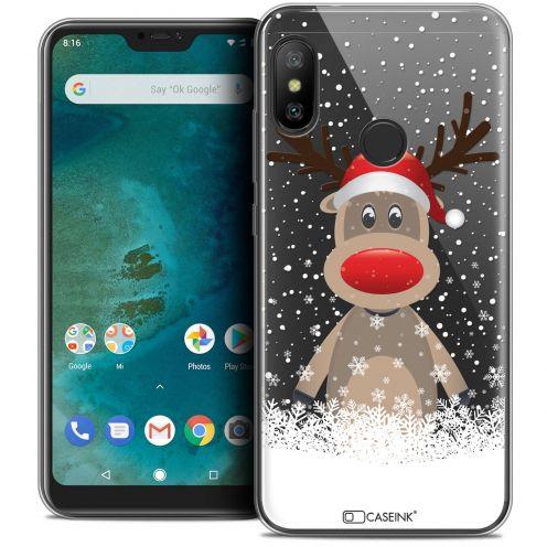 "Coque Crystal Gel Xiaomi Mi A2 LITE (5.8"") Extra Fine Noël 2017 - Cerf au Bonnet"