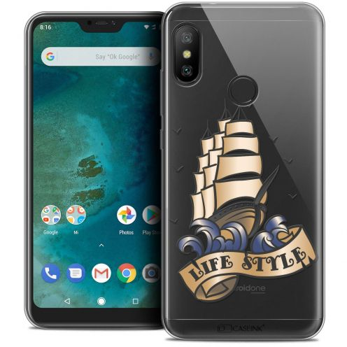 "Coque Crystal Gel Xiaomi Mi A2 LITE (5.8"") Extra Fine Tatoo Lover - Life Style"