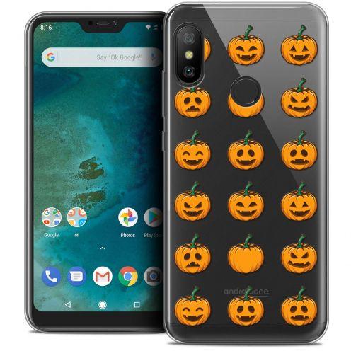 "Coque Crystal Gel Xiaomi Mi A2 LITE (5.8"") Extra Fine Halloween - Smiley Citrouille"