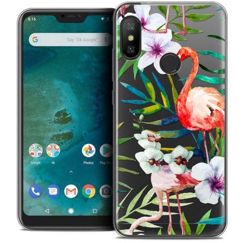 """Coque Crystal Gel Xiaomi Mi A2 LITE (5.8"""") Extra Fine Watercolor - Tropical Flamingo"""