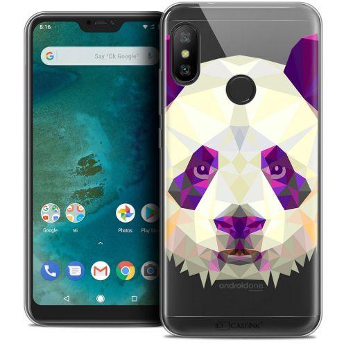 """Coque Crystal Gel Xiaomi Mi A2 LITE (5.8"""") Extra Fine Polygon Animals - Panda"""
