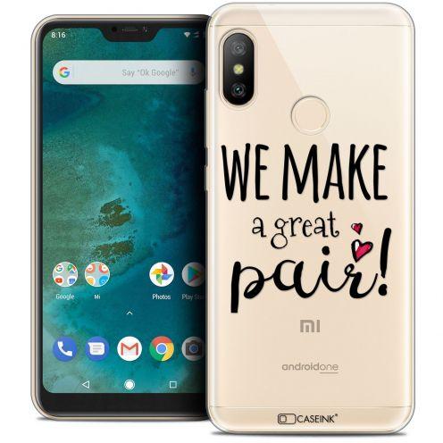 "Coque Crystal Gel Xiaomi Mi A2 LITE (5.8"") Extra Fine Love - We Make Great Pair"