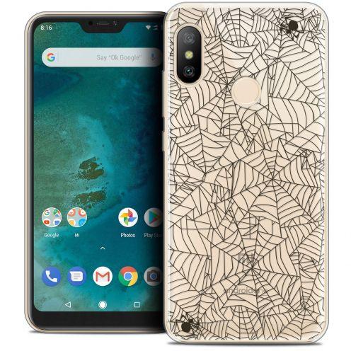"Coque Crystal Gel Xiaomi Mi A2 LITE (5.8"") Extra Fine Halloween - Spooky Spider"