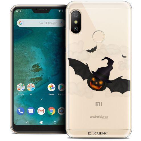 "Coque Crystal Gel Xiaomi Mi A2 LITE (5.8"") Extra Fine Halloween - Chauve Citrouille"