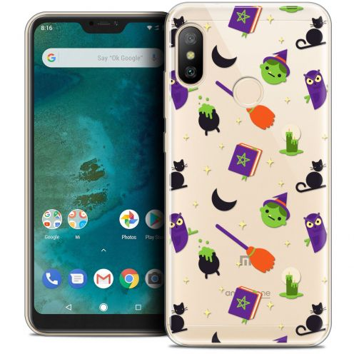 "Coque Crystal Gel Xiaomi Mi A2 LITE (5.8"") Extra Fine Halloween - Witch Potter"