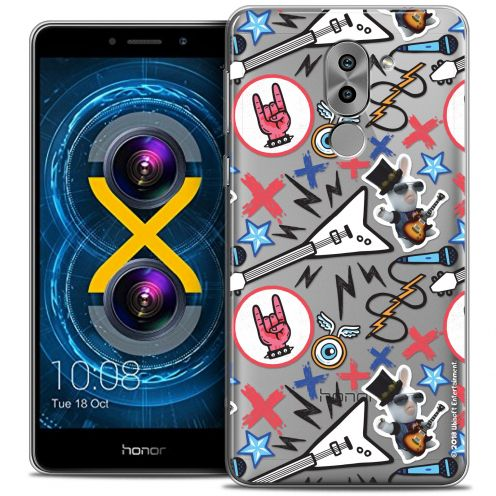 Coque Gel Huawei Honor 6X Extra Fine Lapins Crétins™ - Rock Pattern