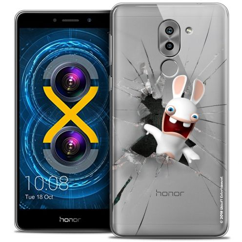 Coque Gel Huawei Honor 6X Extra Fine Lapins Crétins™ - Breaking Glass