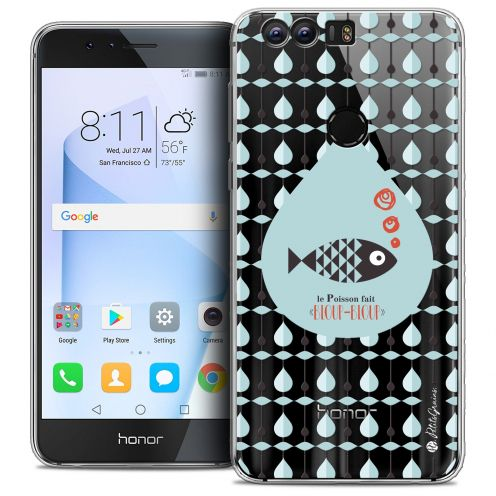 "Coque Gel Huawei Honor 8 (5.2"") Extra Fine Petits Grains® - Le Poisson"
