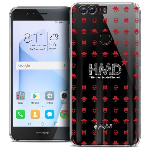 "Coque Gel Huawei Honor 8 (5.2"") Extra Fine Petits Grains® - HMD* Hero en Mode Discret"
