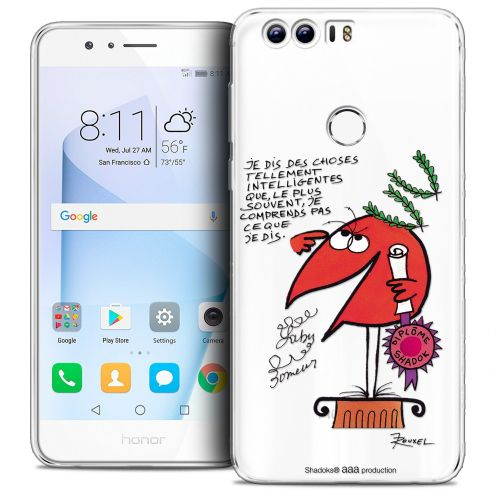 "Coque Gel Huawei Honor 8 (5.2"") Extra Fine Les Shadoks® - Intelligent"